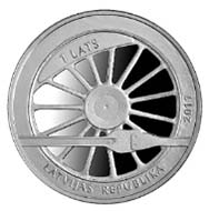 Latvia - 1 lats - 925 silver - 22.00 g - 35.00 mm - Mintage: 5,000 - Designer: Aigars Ozolins (graphic design), Ligita Franckevica (plaster model).