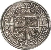 No. 5001: SWEDEN. Gustav Eriksson Vasa (1521-1560). Gyllen 1528. Ahlström 34 a (XR, this specimen). Appelgren 476. Dav. 8690. Hagander 1. Of utmost rarity. Magnificent patina, EF. Estimate: 50,000 Euros, Hammer price: 180,000 Euros.