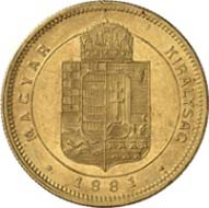 No. 4279: AUSTRIA. Franz-Joseph I (1848-1916). Ducat 1881 KB. Fb. 240. J. 360. Schl. 36. Only 43 specimens were minted, EF. Estimate: 5,000 Euros, Hammer price: 24,000 Euros.