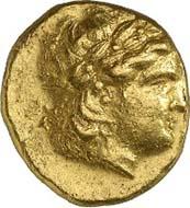 No. 202: BITHINIA, Kios. Stater 334/323 B. C. Waddington, Rec. gen. 1, pl. XLIX, 4. Probably the only specimen on the market. Av. slightly decentered, good VF. Estimate: 15,000 Euros, Hammer price: 65,000 Euros.