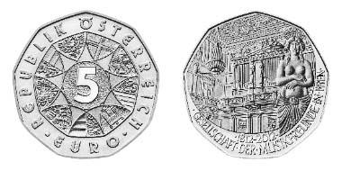 Dies ist die 5-Euro-Münze in Silber.