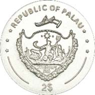 Palau - 2 USD - 925 Silber -7,5 g - 22,00 mm - Auflage: 1.926.