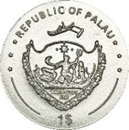 Palau - 1 USD - CuNi - 6.5 g - 22.00 mm - Mintage: 5.000.