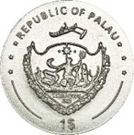 Palau - 1 USD - Kupfer-Nickel - 6,5 g - 22,00 mm - Auflage: 5.000.