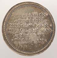 Basel. Medal: The peaceful end of the so-called Rappenkrieg, 1594. Silver, engraved. From the Remigius Faesch Collection. 10.685 g. Inv. 1905.1400.