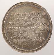 Basel. Medaille auf die friedliche Beilegung des Rappenkriegs, 1594. Silber, geprägt. Aus dem Besitz des Remigius Faesch. 10,685 g. Inv. 1905.1400.