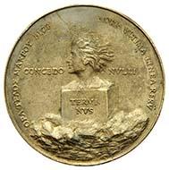 Medaille auf Erasmus von Rotterdam aus seinem eigenen Nachlass, Quentin Massys (Löwen um 1456-1530 Antwerpen), datiert 1519, Guss wohl um 1524. Weißbronzeguss, 106,2 mm. 333,68 g. Inv. 1916.288.