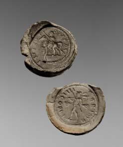 Mit Gussformen aus Ton fälschte man in der Antike Münzen...
