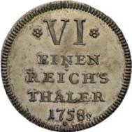 Los 5539 - War-6 Kreuzer of 1758: CHF 52,000 (15,000).
