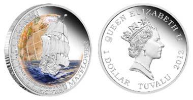 Tuvalu - 1 TUV - 1oz 999 silver - 31.135 g - 40.60 mm - Mintage: 5,000 - Design: Tom Vaughan.