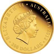 Australia - 200 AUD - 2oz 999 gold - 62.215 g - 41.10 mm - Mintage: 60 - Design: Darryl Bellotti.