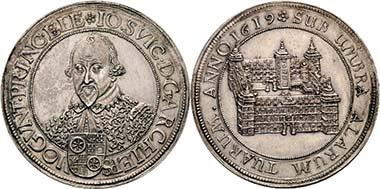 Nr. 332: Mainz. Johann Schweikard von Kronberg, 1604-1626. Reichstaler 1619. Dav. 5539. Äußerst selten. Vorzüglich. Schätzpreis 15.000 Euro / Zuschlag 32.000.