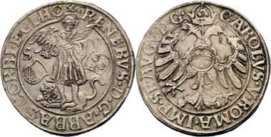 Nr. 3425: Reiner II. von Buchholz, 1555-1585. Taler o. J. (um 1558), Schätzung 10.000/ Zuschlag 28.000.