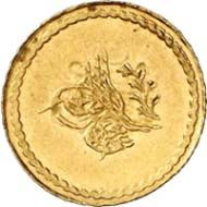 Ceyrek, Constantinople, 1255 H. (= before the monetary reform of 1845). Friedberg 15. From auction Künker 199 (December 12, 2011), no. 9. Estimate: 75 Euros.