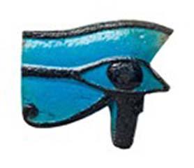 Egyptian faience wedjat eye amulet. Third Intermediate Period. 1069-715 BC. Length: 6.5 cm. GBP 7,000.