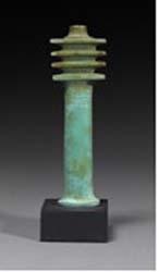 Egyptian faience djed pillar. Late Dynastic Period. 715-332 BC. Height: 11 cm. GBP 4,800.