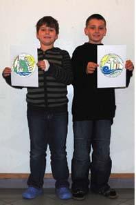 Sasa Mijanovic (links, 3. Platz) und Samuel-Elias Germovsek (rechts, 2. Platz) von der HS/NMS Villach Landskron. Foto: HS/NMS Villach Landskron.