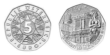 Die 5-Euro-Neujahrsmünze aus Silber. Quelle: Münze Österreich AG.