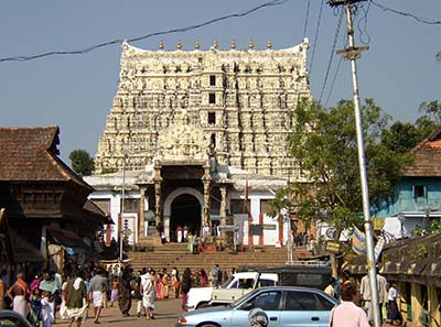 Sree Padmanabhaswamy temple in Thiruvananthapuram. Photo: Rainer Haessner/ Wikipedia.