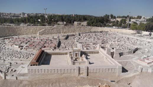 Ein Modell des Tempels, wie ihn Herodes erbaut haben soll. The Israel Museum / Jerusalem. Quelle: Berthold Werner / Wikipedia.