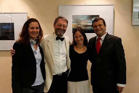 Von links nach rechts: Roxane Riecker (2. Vorsitzende PPAF), Guy Franquinet (1. Vorsitzender PPAF), Ulla Lohmann (Botschafterin des PPAF) und Thomas Lützelverger (Vorstandsvorsitzender der Sparkasse Schwäbisch Hall - Crailsheim.