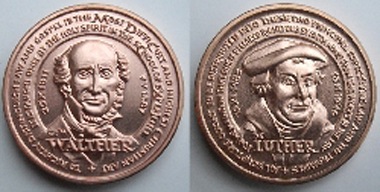 The medal dedicated to Carl Ferdinand Wilhelm Walther.