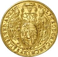 1006: Salzburg. Wolf Dietrich of Raitenau, 1587-1612. 10 Ducats 1594, Turmprägung. Fb. 672. Extremely fine. From Vogel Collection. Estimate: 25,000 EUR. Hammer price: 44,000 EUR.