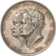 Russia. Nicholas I, 1825-1855. Silver medal 1835, from A. L. Held, on the troop inspection near Kalisch. 33.81 mm; 14.13 g. Diakov 524.2 (R1); Marienb. 3832. Künker 169-173 (Osnabrück 2010), no. 7402.