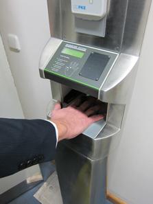 Security checks at all doors. Photo: UK.