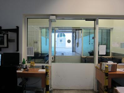 The GSA's high security garage - with an open door. Photo: UK.