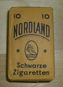 A box of cigarettes produced in the city of Lahr.