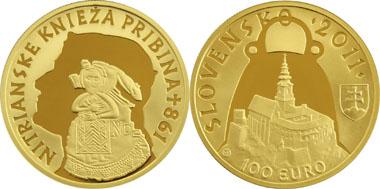 Slovakia - 100 Euro - 900 gold - 9.5 g - 26.00 mm - design: Ivan Rehák - Mintage: 7,000.