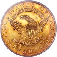 4681: 1829 $5 Large Date PR64 PCGS Secure. CAC. Breen-6489, BD-1, R.7. Ex: Garrett.