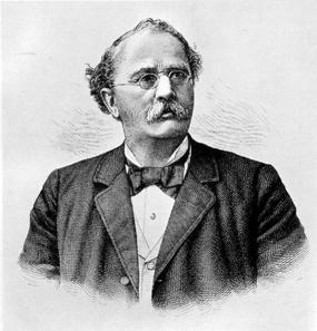 Adolf Guyer-Zeller (1839-1899) in einem zeitgenössischen Porträt. Quelle: Wikipedia.