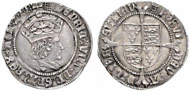 Henry VIII (1509-1547). Groat, London, no year (1509-1526). Seaby 2316. From Künker auction 119 (2007), 799.
