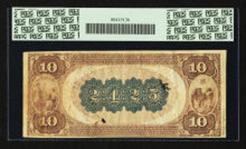 18462: Winston, NC - $10 1882 Brown Back Fr. 490 The Wachovia NB Ch. # 2425. Realized: $44,563.