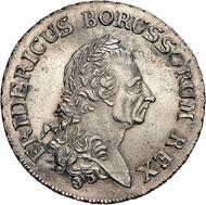 Der Alte Fritz - Das seit 1771 auf allen Talern verwendete eindrucksvolle Altersbildnis Friedrich II. ziert auch seinen