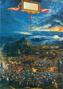 Alexander battle by Albrecht Altdorfer. Alte Pinakothek München. Source: Wikipedia.