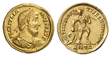 Julian the Apostate. Solidus, Antioch. RIC 202. From Künker 174 (2010), 1039.