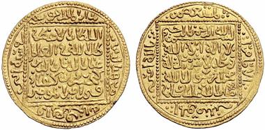 Auktion 153 / Los 904: Seldschuken von Rum. Ghiyath ad Din Kay Khusru II ibn Kay Qobad, 634-643 AH (1237-1245 n. Chr.). Dinar 642 AH Konya. Album 1215. 4,50 g.