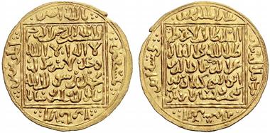 Auktion 153 / Los 905: Seldschuken von Rum. Izz ad Din Kay Kawus II ibn Kay Khusru, 643-655 AH (1245-1257 n. Chr.). Dinar 644 AH Konya. Album vgl. 1223.