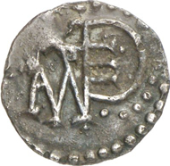 Pepin the Short, 752-768. Denarius, Angers. Depeyrot 40. From auction Künker 205 no. 1394. Estimate: 5,000 euros.