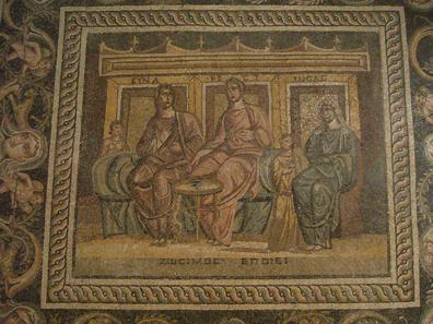 Mosaik des Zosimos im archäologischen Museum von Antep. Foto: KW.