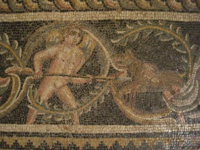 Detail aus dem Mosaik des Zosimos. Foto: UK.