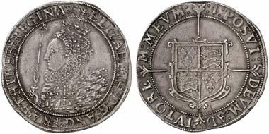 Elisabeth I. (1558-1603). Crown, London, o. J. (1601/2). Seaby 2582. Aus Auktion Künker 184 (2011), 5440.