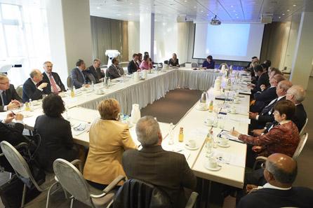 Ein Blick in eine Sitzung des Marketing-Komitees der Mint Directors Conference.