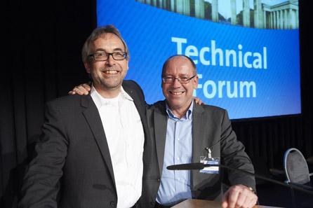 Die Moderatoren Dieter Merkle und Günther Waadt.
