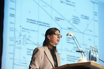 Dimitrina Fileva bei ihrem Vortrag.