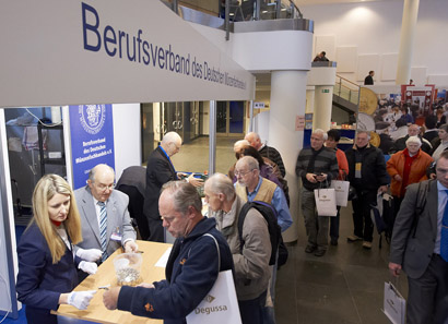 Der Stand des Berufsverbands des Deutschen Münzfachhandels.