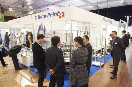 Stand der schweizerischen Teca-Print.